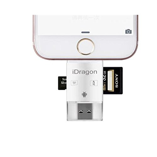 High Speed Lightning iReader USB SDHC Micro SD OTG Card Reader Support IOS 11 for iphone X 8/8 Plus 7/7 Plus 6S/6S Plus 6/6 Plus iPad PC & OTG Galaxy S6 S7 S5 S4 S3, Galaxy Note 4 3 2, LG G3 by LOTUS POWER (Image #5)