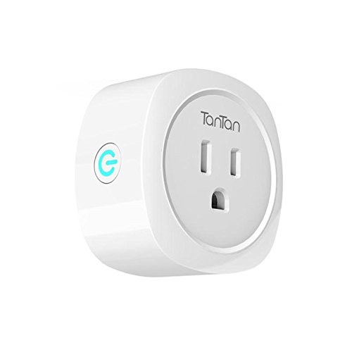 TanTan Smart Plug Wi-Fi Wireless Switch Mini Socket with Energy Monitoring, Compatible with Amazon Alexa and Google Home, No Hub Required, Turn ON/OFF Electronics from Anywhere [ETL&FCC Listed]