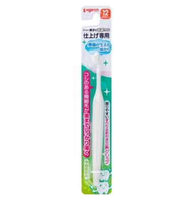 不規則性やさしい適応【まとめ買い】ピジョン 仕上げ専用歯ブラシ 奥歯が生える頃から ×12個