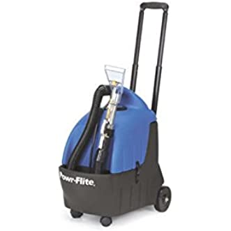 Powr-Flite PS35 Portable Carpet Spotter with Detail Tool and 10  Stretch Hose, 3.5 gal Capacity