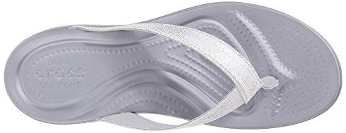 CROCS - CAPRI V - shimmer black Silver