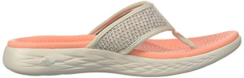Orange Go Womens On Toe Sandals Skechers Taupe Post The 600 vfwqxcFUA