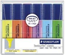 - Staedtler Textsurfer Classic Highlighter Inkjet-safe Line Width 2.5-4.7mm Pink Ref 36423 [Pack 10]