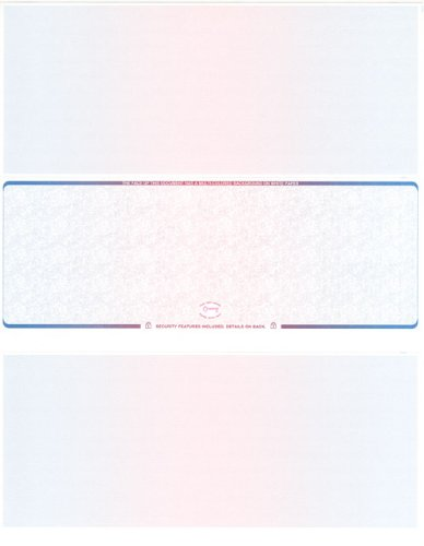 UPC 078496730862, 2000 Blue- Red- Blue- Prismatic Laser Check Stock, (Check At Middle) Blank Laser Checks, Laser Check, Bank Checks, Business Checks, or Personal Checks