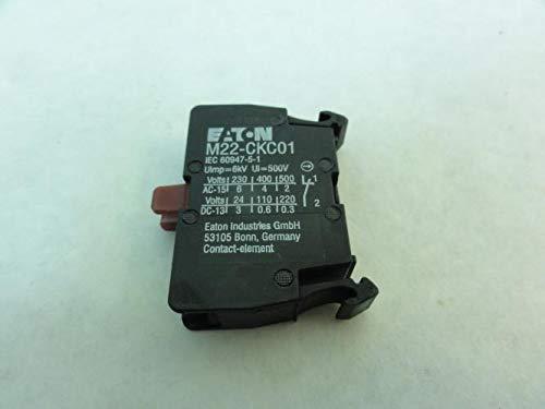 (Eaton M22-CKC01 Contact Block, 1-NC, 500VAC)