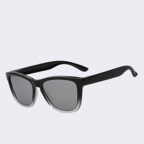 UV de sol TIANLIANG04 de sol espejo Los hombre lens clásico400 espejo de de gafas polarizadas gafas mirror de Gafas lentes hombres plata lentes Vintage Silver xAaAq0
