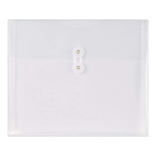 (Staples Poly Envelopes w/Side Opening, Letter, Clear, 10/Pac)