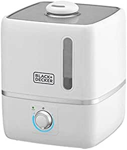 Black+Decker 3.0L Compact Ultrasonic Air Humidifier for Home and Office, White - HM3000-B5, 2 Years Warranty