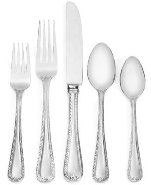 LENOX 863543 Vintage Jewel 20-piece Flatware Set, 3.2 LB, Metallic