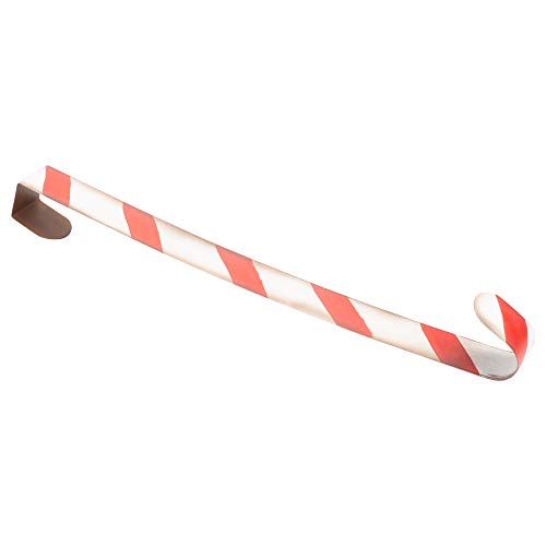 The Royal Standard Candy Cane Peppermint Red and White Stripe 22 inch Metal Christmas Wreath ()