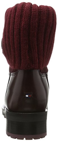 Bottes 3c decadent Hilfiger Rouge J1285ill Femme Chocolate Tommy qtBzPw