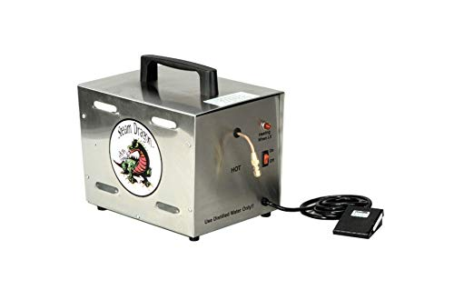 Silver Steam Dragon Portable Jewelry Cleaner Steamer Foot Pedal 125 PSI