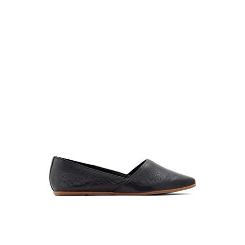 ALDO Women's Blanchette Slip-On Flat Loafer, Black, 6.5 B US