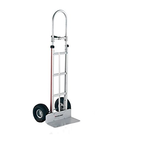 """Price comparison product image Hand Truck Aluminum Hand truck with 10"""" x 3.5"""" Pneumatic Air Tires 213C-G2-1060"""