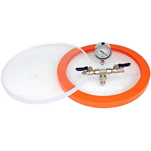 BVV 10.75 Inch Diameter Replacement Vacuum Chamber Lid with Hardware and Gasket