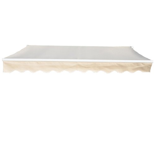 Greenbay 3x2.5m Garden Awning Replacement Fabric Top Cover Front Valance Cream Manufactured for Greenbay