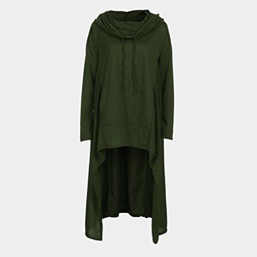 Shirt Manches T Cape Long Armée Casual Tops Vintage Capuche Longues w4xRXaxq