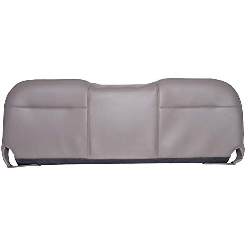 Seat Covers Vinyl Cover - The Seat Shop Bench Bottom Replacement Vinyl Seat Cover - Medium Dark Stone Gray (Compatible with 2008 Ford F250, F350, F450, and F550 Super Duty XL Work Truck)