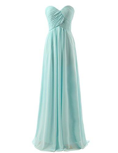 Sarahbridal - Vestido - Sin mangas - para mujer verde menta