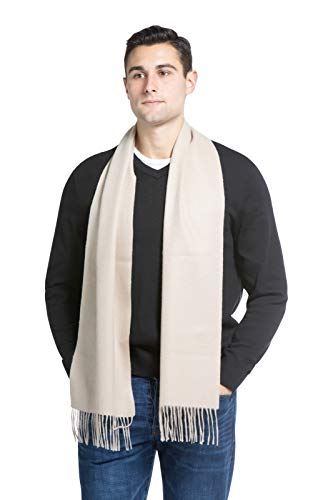 (Fishers Finery Men's 100% Pure Cashmere Scarf, Warm and Comfortable (Camel))