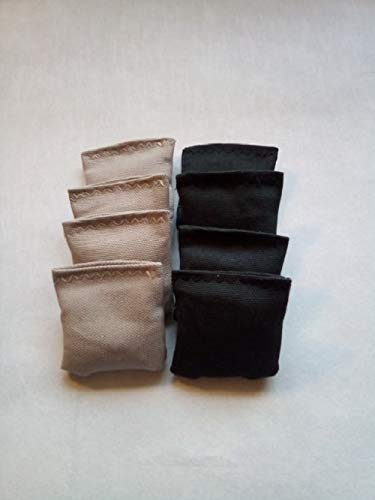 2 inch mini cornhole toss bags Grey and black set of 8 Replacement Bags