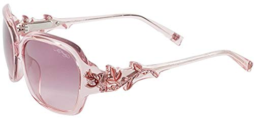 Ed Roses Womens Hardy (Ed Hardy EHS Rose With Thorns Women's Sunglasses - Pink)