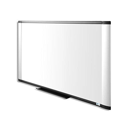 Master of Boards Premium Enamel Whiteboard   Pearl Silver   Drywipe, Magnetic   Aluminum Frame - 24