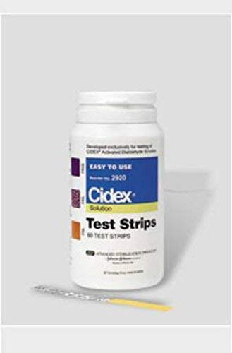Cidex - Dialdehyde Concentration - Indicator Pad - 60 Test Strips - Bottle - Single Use