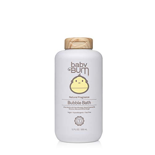 Baby Bum Bubble Bath - Natural Fragrance - Tear Free – Soothing White Ginger for Sensitive Skin - 12 FL OZ