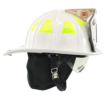 Cairns 1044 Helmet, White - NFPA Bourkes, Standard, -