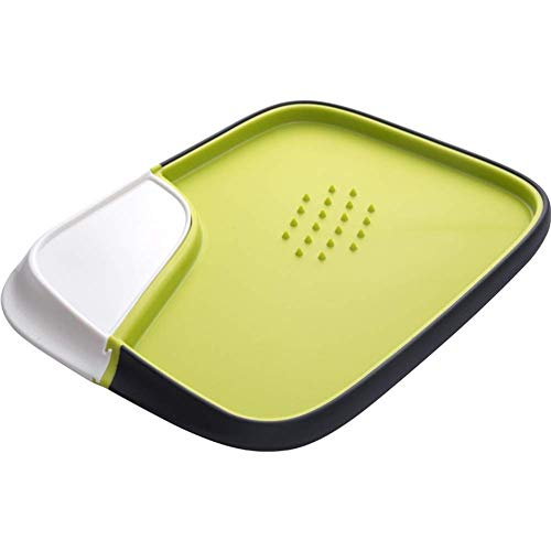 LLDDP Serving Trays Kitchen Chopping Board, with Detachable Container, Double Working Surface, BPA-Free with Meat tenderise Bulge, Leakproof Cutting Board,Green Divided Serving Trays (Best Way To Tenderise Meat)