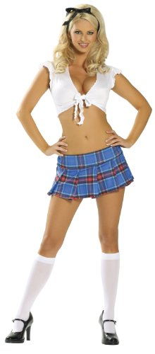Study Partner - Women's Sexy School Girl Costume Uniform Outfit ()