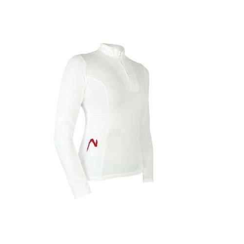 Horze ShowOff langärmliges Turniershirt-Damen Weiß