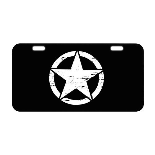 (New Arrival! Novelty Tag Military US Army Star Pattern Strong Aluminum Car License Plate 11.8
