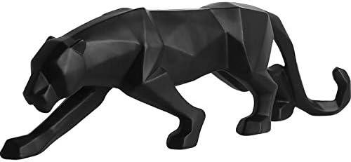 LKXZYX Decorativos Figuras Salon candelabros de Jardin Exterior Miniatura, Adornos Oficina Bar Pantera Negra Escultura Estatua Geométrica Animal: Amazon.es: Hogar