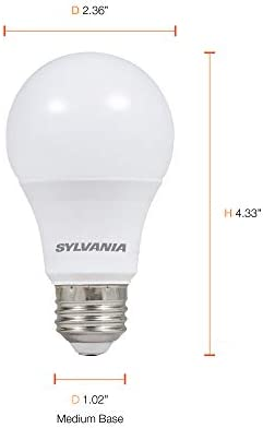LEDVANCE 74765 A19 Efficient 8.5W Soft White 2700K 60W Equivalent A29 LED Light Bulb (24 Pack), 10 12 months, 24 Count