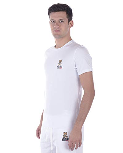 8102 Underwear Hombre Camiseta Moschino L Blanco A1905 4RPPqxdwE