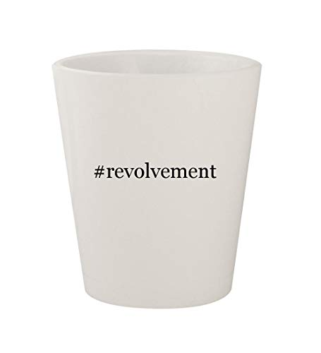 #revolvement - Ceramic White Hashtag 1.5oz Shot Glass