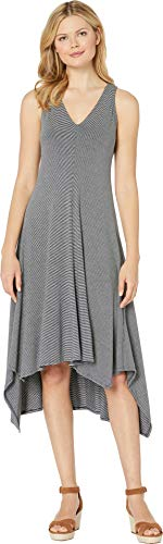 American Rose Women's Palma V-Neck Jersey Dress Gray Small