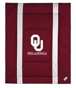 NCAA Oklahoma Sooners Sidelines Comforter, King, Deep Claret by Sports Coverage