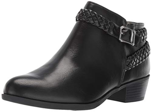 LifeStride Women's Adriana Ankle Bootie Boot, Black, 7 W US