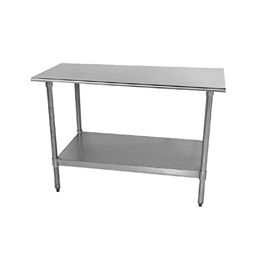 Economy Stainless Steel Top Workbench Finish: Galvanized, Size: 35.5