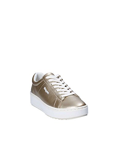 SHOES Donna BLAUER LAM Sneakers 37 8SMELLS01 Giallo dw6SxU