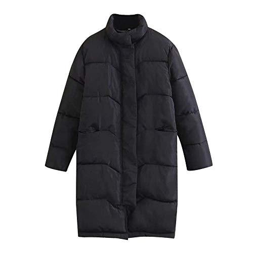 Chic Outwear Fille Classique Pardessus Parka Couleur Manteau Épaissir chaud Mode Pure pour Marbré Hiver Vêtements long femmes Schwarz Élégant Tendance xUwfPq8S7