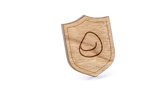 Price comparison product image Bean Bag Chair Lapel Pin,  Wooden Pin And Tie Tack / Rustic And Minimalistic Groomsmen Gifts And Wedding Accessories