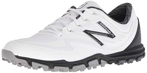 New Balance Women's Minimus WP Waterproof Spikeless Comfort Golf Shoe, White/Black, 9 M -