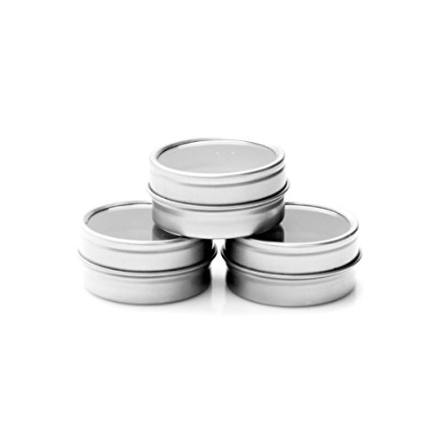 Mimi Pack Shallow Round Tin Can Clear Window Top Lid Steel Containers For Favors, Spices, Balms, Gels, Candles, Gifts, Storage 24 Pack (3 oz, (Wholesale Tin Containers)