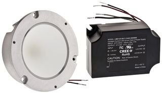 Downlight, Flat Lens, LED, 10.5 W, 19 VDC, White, 4000 K, 88.2 mm