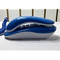 Ae zone Landline Telephone Corded Phone Orientel KX-T333 for Office and Home Purpose White and Blue