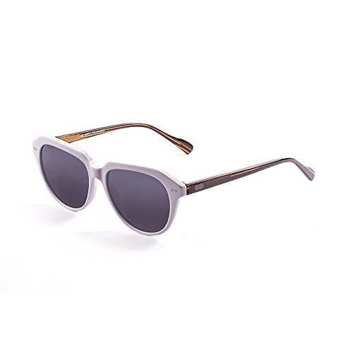 Ocean Sunglasses Mavericks Lunettes de Soleil Mixte Adulte, Shiny Black/Demy Brown/Smoke Lens